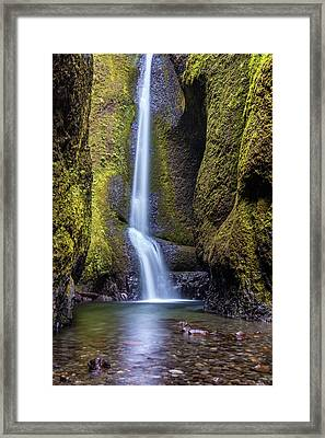 Mystical Oneonta Falls Framed Print by Pierre Leclerc Photography