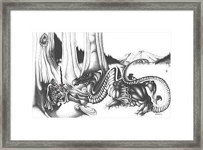 Mystical Riverbed Framed Print