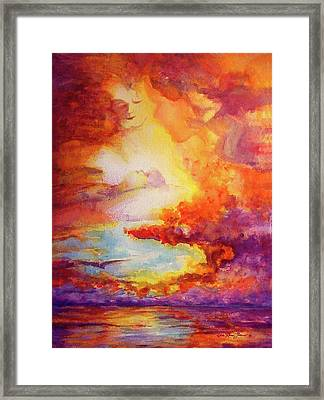 Mystical Sunset Framed Print by Estela Robles