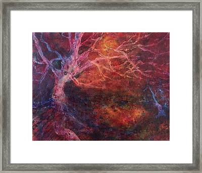 Framed Print featuring the painting Mystical Tree by Kim Fournier