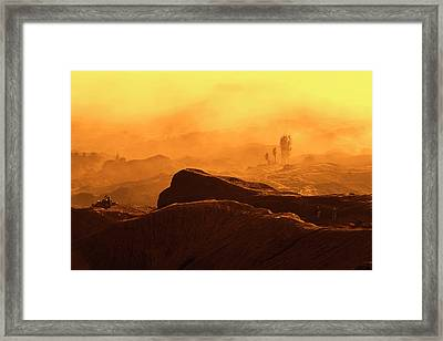 Framed Print featuring the photograph mystical view from Mt bromo by Pradeep Raja Prints