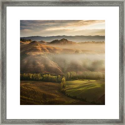 Mystical Waving Fields Tuscany Framed Print