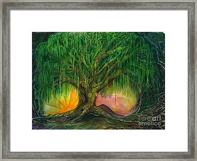 Mystical Willow Framed Print by Colleen Koziara