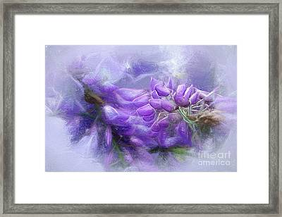 Framed Print featuring the photograph Mystical Wisteria By Kaye Menner by Kaye Menner