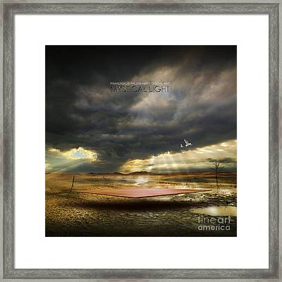 Framed Print featuring the digital art Mystical Light by Franziskus Pfleghart