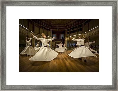Mystics Dancers Framed Print by Walde Jansky