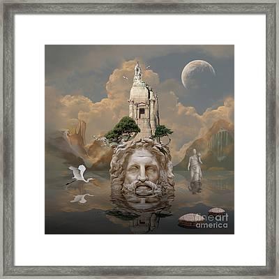 Framed Print featuring the digital art Mystique by Alexa Szlavics