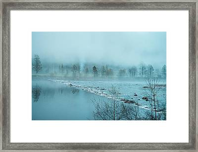 Mystique In The Fog Framed Print
