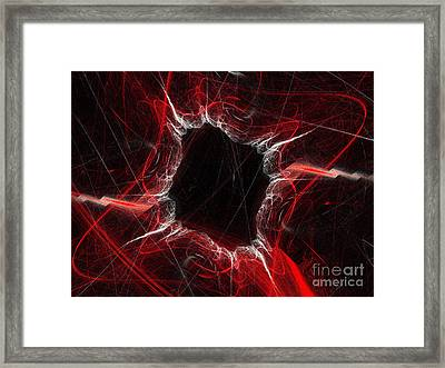 Mystry Through The Black Hole Framed Print by Andee Design