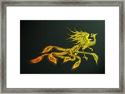 Myths Ablaze Framed Print