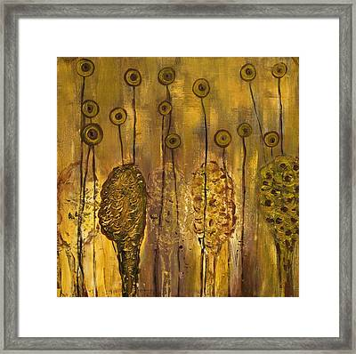Myxomycetes Framed Print by Angela Dickerson