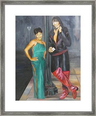 Mz Thang And Rick James Framed Print