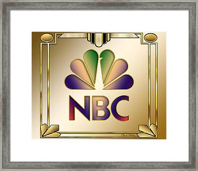 N B C Logo - Art Deco Framed Print by Chuck Staley