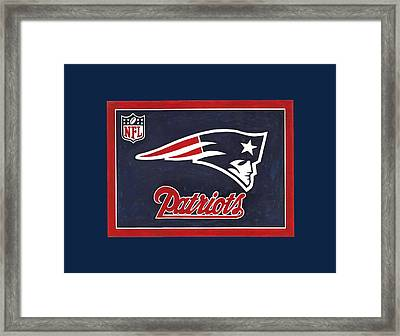 N. E. Patriots T-shirt Framed Print by Herb Strobino