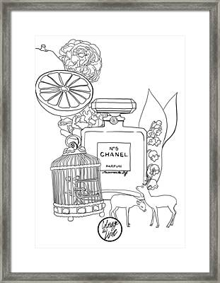Framed Print featuring the digital art N0.5 by ReInVintaged