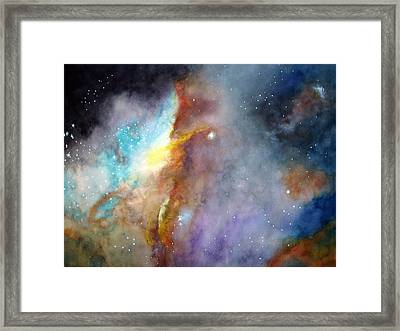Framed Print featuring the painting N11b Large Magellanic Cloud by Allison Ashton