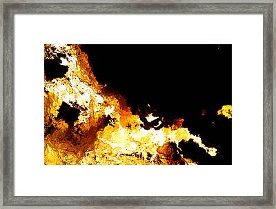 Na Nine Black Hole Sun Framed Print by Kika Pierides
