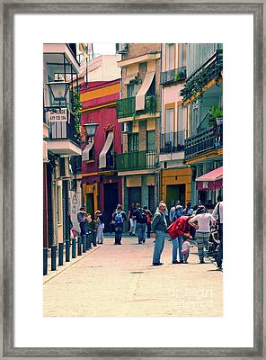 Framed Print featuring the photograph Triana On A Sunday Afternoon 1 by Mary Machare