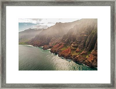 Na Pali Coast 4 - Kauai Hawaii Framed Print by Brian Harig