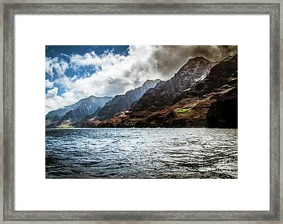 Na Pali Coast Cliffs Kauai Hawaii Framed Print