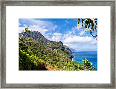 Na Pali Coast Kauai Framed Print by Brian Harig