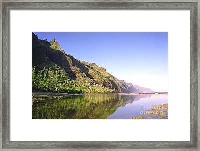 Na Pali Coast  Kauai  Framed Print by Kevin Smith