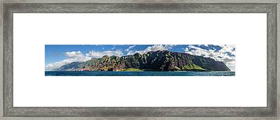 Na Pali Coast Panoramic Framed Print