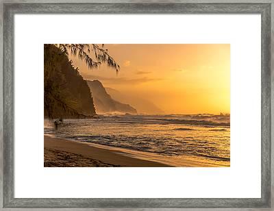 Na Pali Coast Sunset Framed Print
