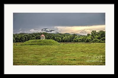 Mound Gazebo Indian Mountains Framed Prints