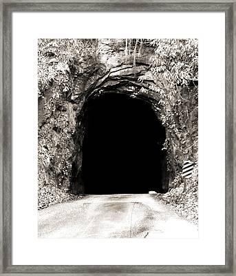 Nada Tunnel Framed Print by Dan Sproul