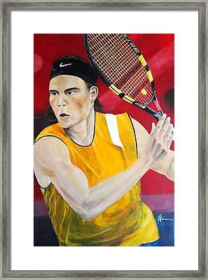Nadal Framed Print by Flavia Lundgren