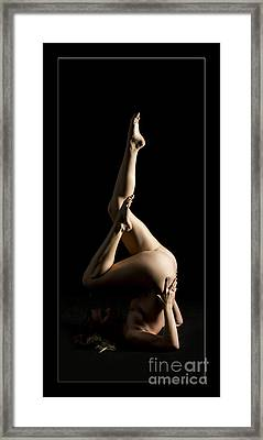 Nadia Fine Art Nude Photograph In Color 133.02 Framed Print by Kendree Miller