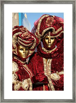 Nadine And Daniel In Red 2 Framed Print by Donna Corless