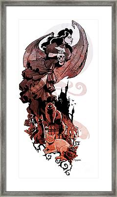 Nadja's Flight Framed Print by Brian Kesinger