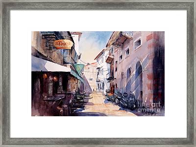 Nafplio Old Town 2 Framed Print