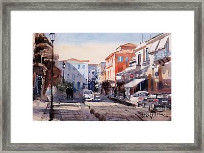 Nafplio Old Town Framed Print