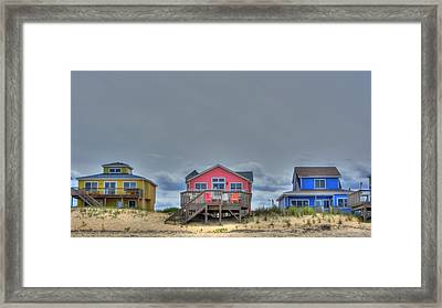 Nags Head Doll Houses Framed Print by Brad Scott