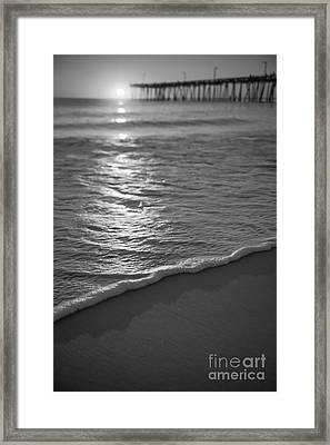 Nags Head First Light Bw Framed Print by Michael Ver Sprill