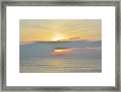 Nags Head Sunrise 7/24/16 Framed Print