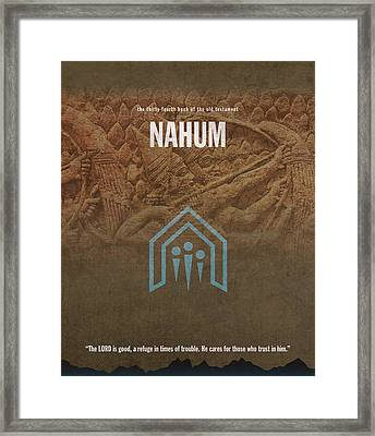 Nahum Books Of The Bible Series Old Testament Minimal Poster Art Number 34 Framed Print