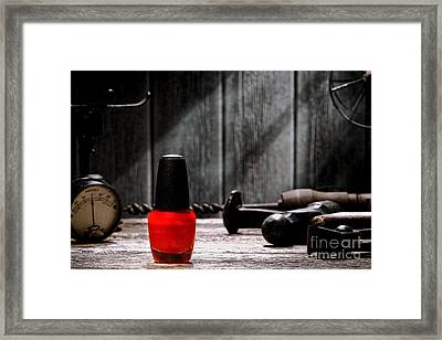 Nail Polish Framed Print by Olivier Le Queinec