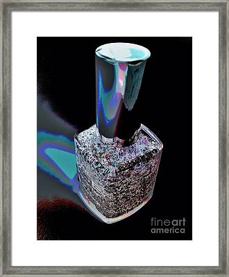 Nail Polish On The Stage Framed Print