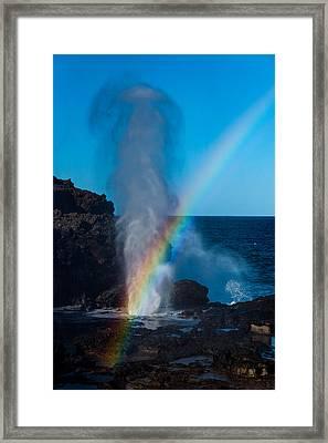 Nakalele Blow Hole Framed Print