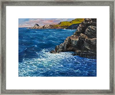 Framed Print featuring the painting Nakalele Point Maui by Darice Machel McGuire