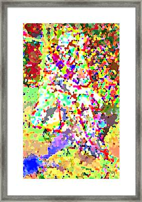 Naked Abstract Expressionist  Framed Print