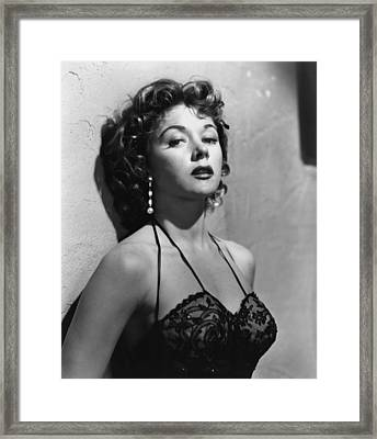Naked Alibi, Gloria Grahame, 1954 Framed Print by Everett
