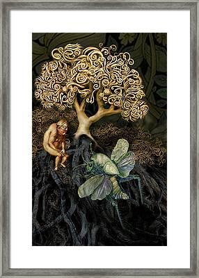 Naked And Afraid Framed Print by Hans Neuhart