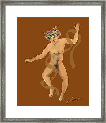 Framed Print featuring the painting Naked Dancer #7 by Thomas Lupari