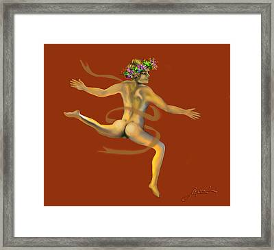 Framed Print featuring the painting Naked Dancer by Thomas Lupari