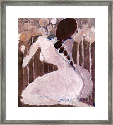 Framed Print featuring the painting Naked Dream by Maya Manolova